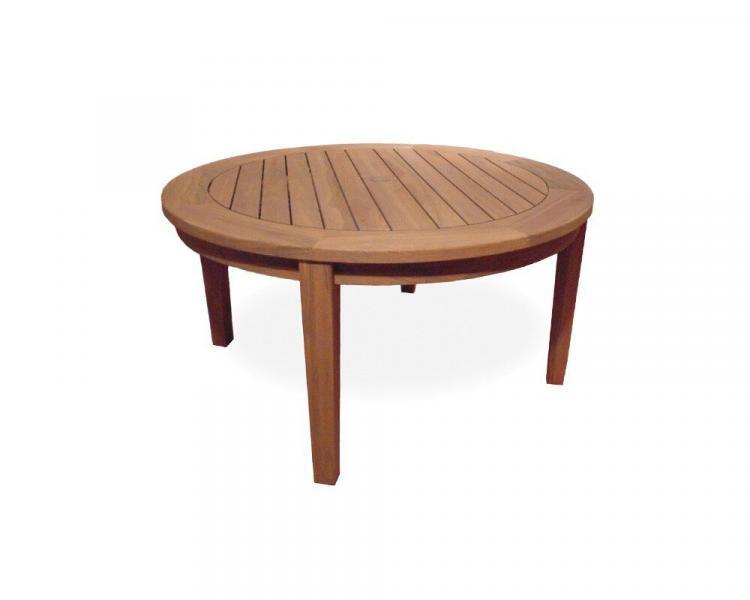 universal teak 48 round tapered leg conversation table