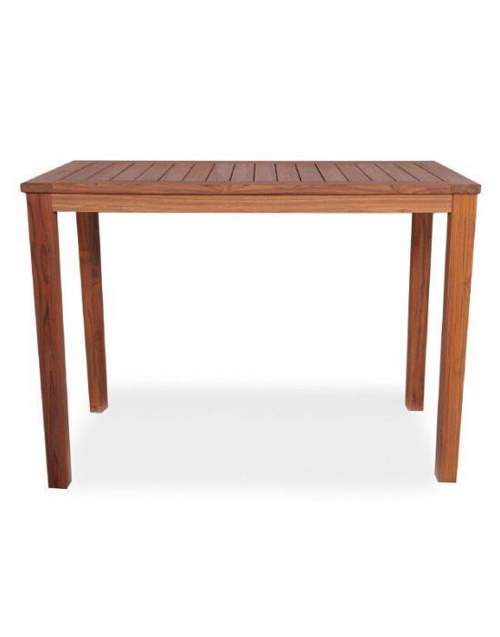 "UNIVERSAL TEAK 57"" RECTANGULAR TAPERED LEG CONSOLE TABLE"
