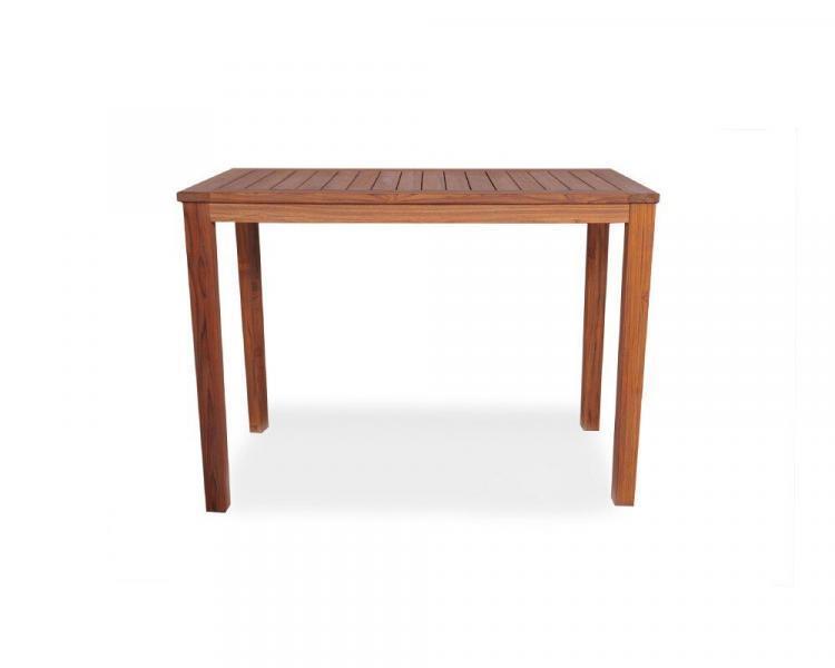 universal teak 57 rectangular tapered leg bar table