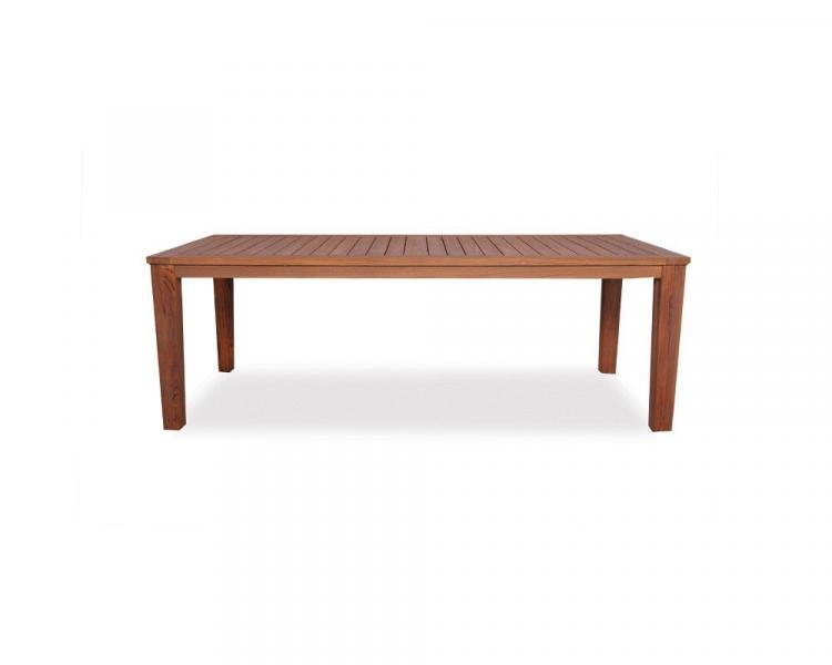 universal teak 72 rectangular tapered leg umbrella table