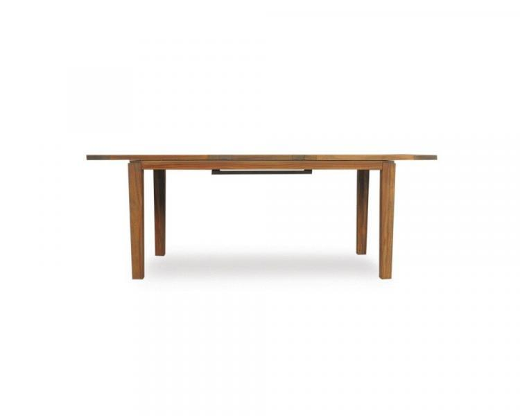 universal teak 84 butterfly leaf tapered leg dining table