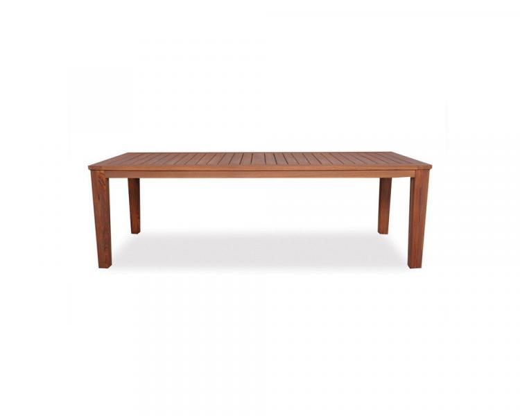universal teak 86 rectangualr tapered leg umbrella table