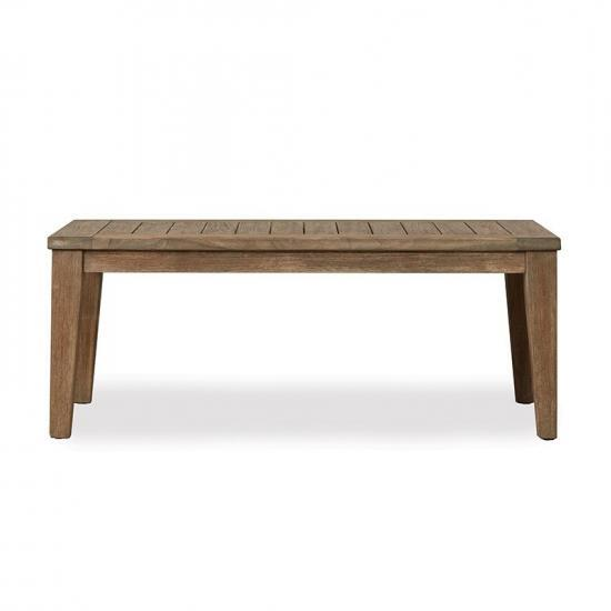 WILDWOOD RECTANGULAR TAPERED LEG COCKTAIL TABLE