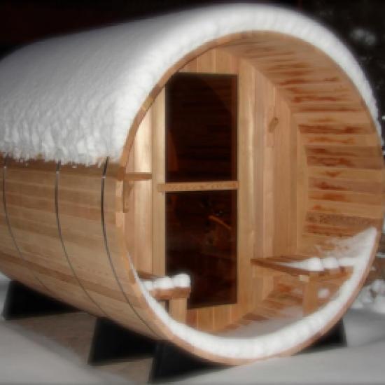 Charleston Canopy Barrel Sauna